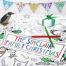 Colour In Tablecloth Christmas *Personalise It Option