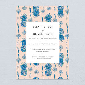 Pineapple Wedding Invitations - invitations