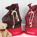 Luxury Personalised Tartan Christmas Santa Sacks