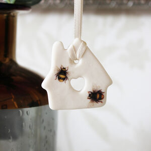 Mini Porcelain Bee House Decoration