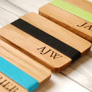 Personalised Monogrammed Wooden Card Holder