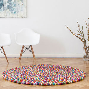 Round Felt Rug - children's room