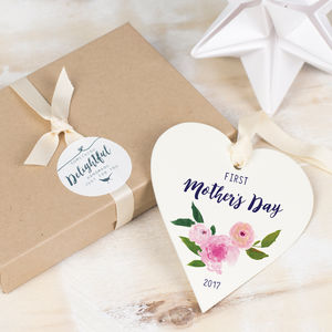 Personalised First Mother's Day Heart - cards & wrap