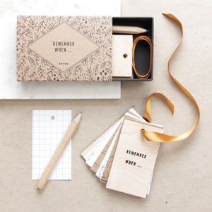 'Remember When …' Tiny Tag Book - gifts for him
