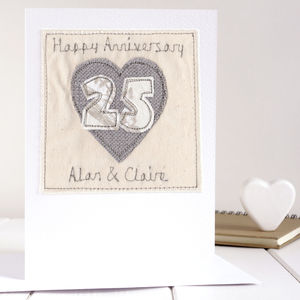 Personalised Silver Wedding Anniversary Card - anniversary cards
