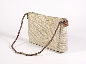 Sea Grass Shoulder Bag White Wash Se21/W