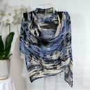 'Birch Stripe' 100% Wool Voile Scarf Wrap