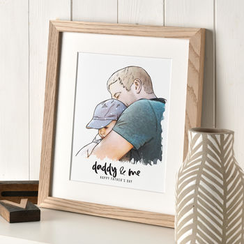 Daddy And Me Illustration