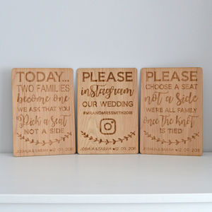 Personalised Wedding Signs - outdoor wedding signs