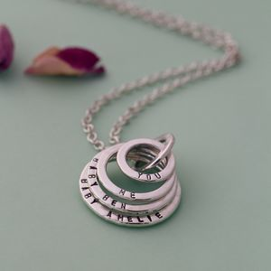 Personalised Deluxe Family Names Necklace - necklaces & pendants