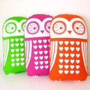Screen Printed Owl Cushion