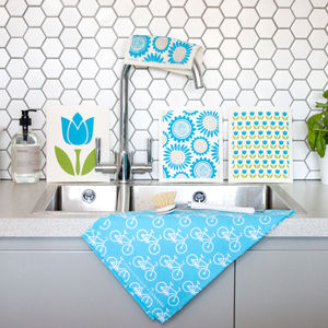 Set Of Turquoise Dish Cloths