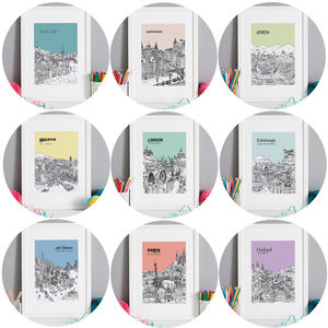 Special Price Set Of Three City Prints - drawings & illustrations