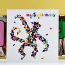 Cheeky Monkey Happy Birthday Card