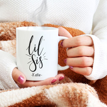 Personalised 'Lil Sis' Little Sister Mug