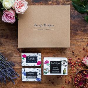 Organic Soap And Hand And Body Cream Gift Set