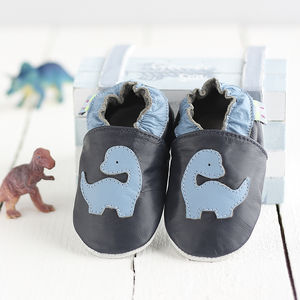 Dinosaur Soft Leather Baby Shoes - socks, tights & booties
