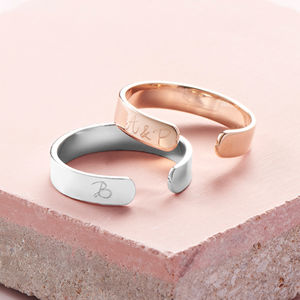 Personalised Open Ring - jewellery