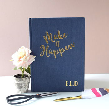 Personalised Make It Happen Notebook