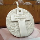 Personalised Vintage Christening Circle Keepsake