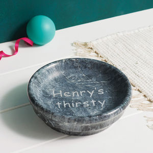 Personalised Marble Dog Bowl - dogs