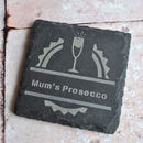 Personalised Prosecco Slate Coaster