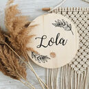 Personalised Leaf Wooden Name Sign