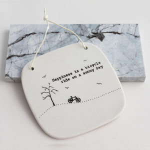 'Happiness And Sunshine' Hanging Tile - votives & tea light holders