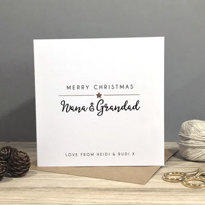 Personalised Grandparent Foiled Christmas Card