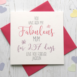 No Of Days Being My 'Fabulous' Mum/Mummy Card