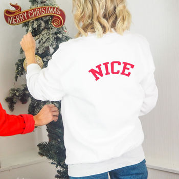'Nice' Christmas Jumper