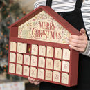 Merry Christmas Wooden Advent Calendar House