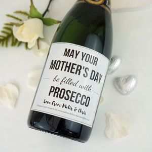 Mother's Day Filled With Prosecco Label