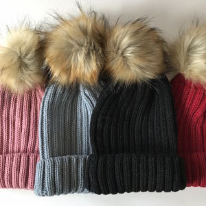 Faux Fur Bobble Hat - hats & gloves
