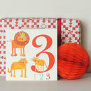 Three Lions Birthday Card