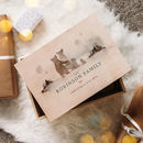 Personalised Bear Family Christmas Eve Box