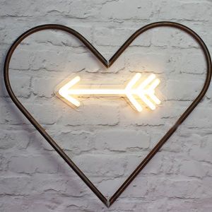 Light Up LED Neon Arrow Sign - new in wedding styling