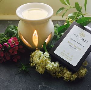 Aromatherapy Oil Burner And Six Luxury Wax Melts - votives & tea light holders