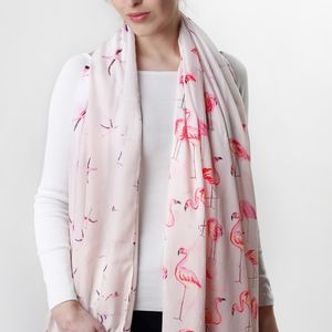 Pink Flamingo Scarf - 30th birthday gifts