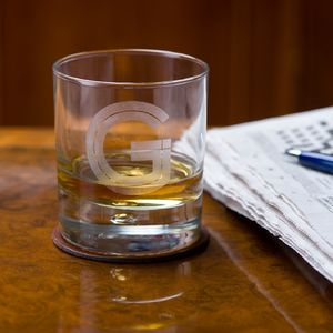 Initial Whisky Tumbler - best man & usher gifts