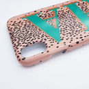 Leopard Print And Emerald Green Personalised Phone Case