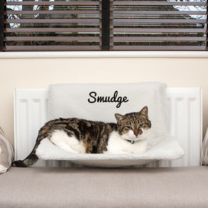 Personalised Cat Radiator Bed - gifts for pets