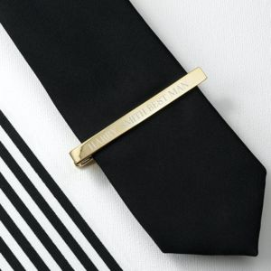 Personalised Gold Plated Tie Clip - men's accessories