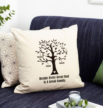 Personalised Great Dad Family Tree Cushion