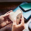 Leather Heart Purse