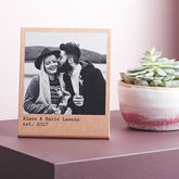 Personalised Solid Copper Photo Print - prints & art