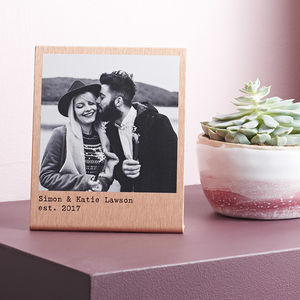Personalised Solid Copper Polaroid Print - valentine's gifts for him
