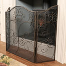 Antique Style Ornate Cast Iron Fire Screen