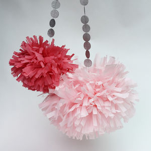 Medium Tissue Paper Tassel Pompom Pom Pom - home accessories
