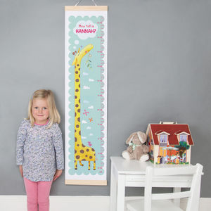 Personalised Giraffe Height Chart - children's room